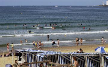 Bains de plage de Tanchet
