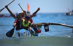 Polynesischen Pirogen Rennen