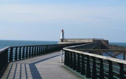 The Grand Jetty and the red lighthouse